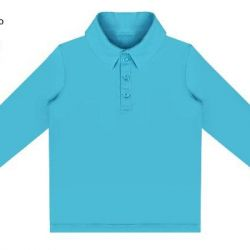 New turquoise polo shirt 152 rise