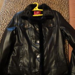 new mink finish eco-leather jacket