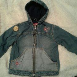 Джинсовая куртка, утепленная