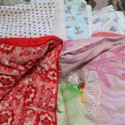 κουβέρτα και βαμβακερό ύφασμα