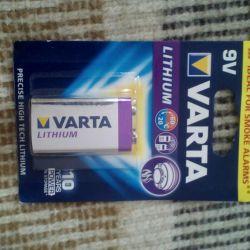 Varta 9 V Crown Lithium battery