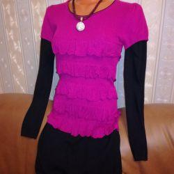 Φόρεμα 44-46-48 ζακέτα ζεστό κομψό