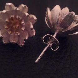 Silver earrings 925 tests