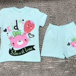 New suit for girls, shorts and T-shirt
