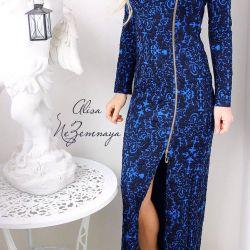 Jacquard R. M'den uzun elbise