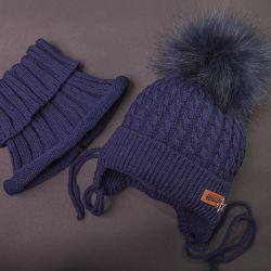 Yeni şapka + snudik seti, kış