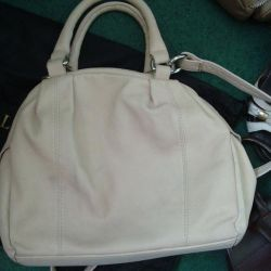 BAG, Suede Ivory colors Italian