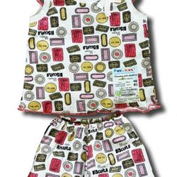 New Pajamas for girls (T-shirt and shorts).