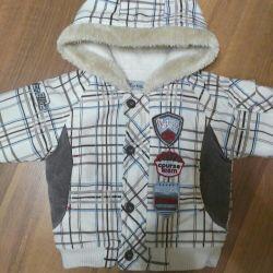 Children's jacket on fleece