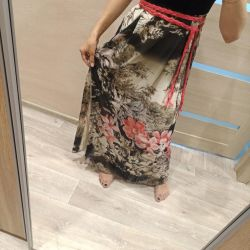Платье трикотаж/шифон 42 размер