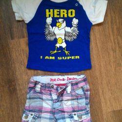 T-shirt and shorts 74 80