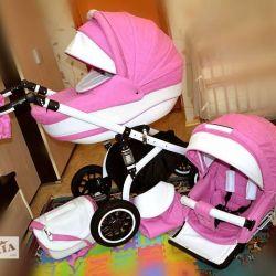 Gelişmiş şok emme özelliği ile 2'si 1 arada bebek arabası