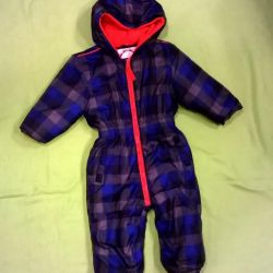Checkered demi-season overalls, 80 p.