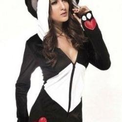 panda elbisesi, kadife, yeni