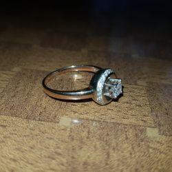 Кольцо бриллиант 585 проба