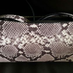Handbag made of python skin.
