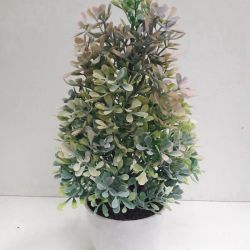 Artificial flowers, bush in a pot