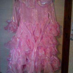 5-7 yıl kemer üzerinde pembe elbise