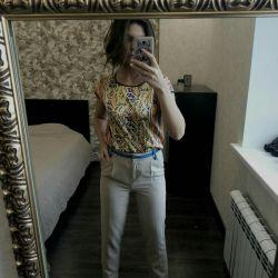 Bluz + pantolon + sandalet