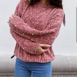 Velor pulover nou