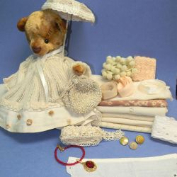 Set for sewing clothes doll, bear