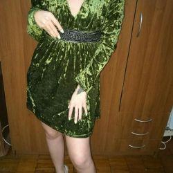 Βρεγμένο φόρεμα από βελούδο