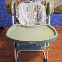 Swing + chair for feeding