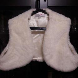 Λευκό γούνινο γιλέκο NEXT