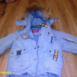 set (jacket and semi-overalls)