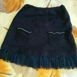 Skirt, blue, knitted