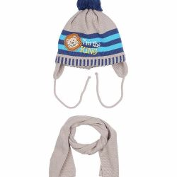 New children's cap with a scarf