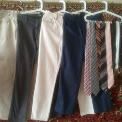 Джинси Італія, МОTOR, штани 44-48р Краватки, ремені