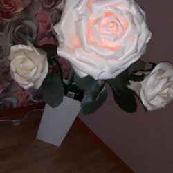Rose lampă de podea (manual)
