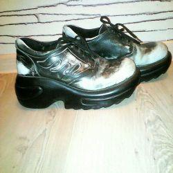 Ботинки кожанные