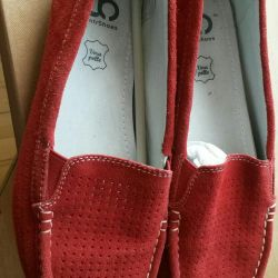 Moccasins genuine leather