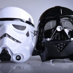 Maskeleri Star Wars Darth Vader ve Stormtrooper
