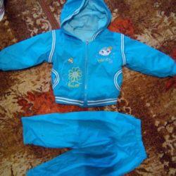 Set of 2 raincoat fabric fleece