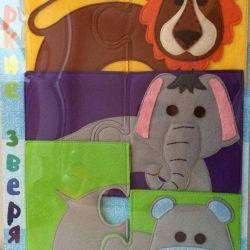 Eco-felt puzzles for children
