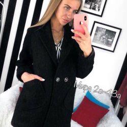 Μαύρο παλτό γυναικών