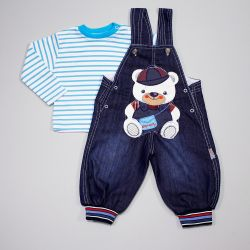 Set jeans p / overalls and jumper, new