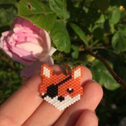 Handmade bead brooch