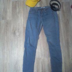 Jeans, cap, belt