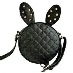 Сумка кролик черная с заклепками