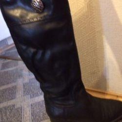 Autumn leather boots