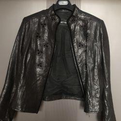 Kurta leather Emporio Armani