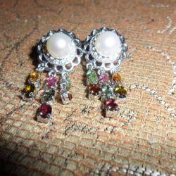 Turmalină de argint, opal, serpentină