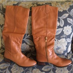 New boots from genuine leather 39 size