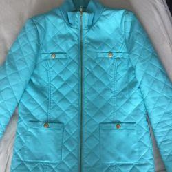Jachetă din piele cu menta