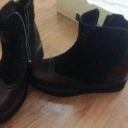 Ботинки кожа, новые
