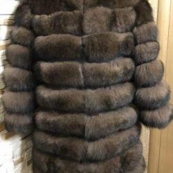 Yeni kürk ceket Kutup tilkisi altında. Sablerazmeo 46-48.50 uzunluk